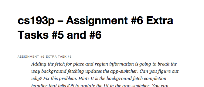 cs193p – Assignment #6 Extra Tasks #5 and #6
